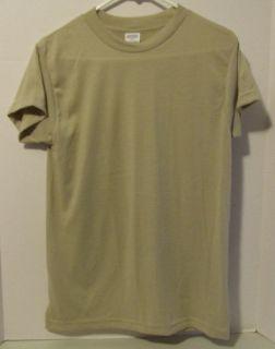 Military Army USMC T Shirt Gi Moisture Wicking Sand Large New Short