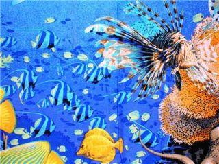 New Sea Turtle Fabric Wall Panel Fish Ocean Octpus Wildlife Coral