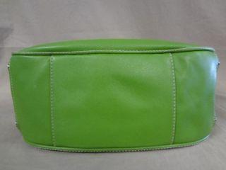 Antonio Melani Lime Green Leather Zippered Leather Hobo Handbag Purse