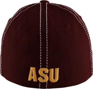 Arizona State Sun Devils Maroon Touchback Wool Stretch Fit Hat