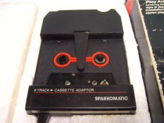 Vintage 8 Track Cassette Tape Adapter Hot Rod Muscle Car Sparkomatic