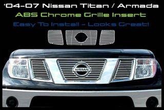 04 05 06 07 Nissan Titan Armada SE Le Chrome Grille Insert CCI Part