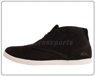 Lacoste Arona 12 SRM Black Leather Suede 2011 Mens Casual Shoes