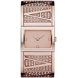 Armani Exchange AX4114 Womens Rose Gold Tone Dial Rose Gold Stainless