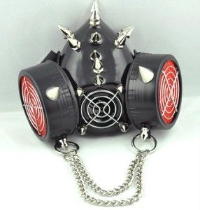 Road Warrior Chain Gas Mask Black Death Metal Extreme Doom Dark Horror