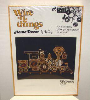 Vintage 1977 Wire N Things Train Wire Art Kit