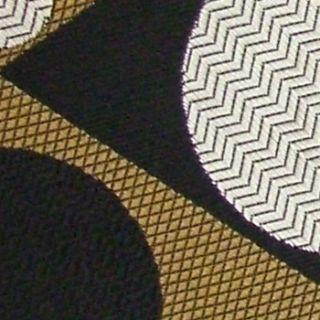 Format Art Deco Geometric Shapes Circle Brown Black Red Silk Neck Tie