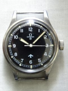Vintage Omega Royal Air Force 1953 6B 542 Military Issue Fat Arrow