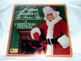 Arthur Fiedler Boston Pops Christmas Festival SS LP