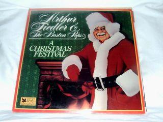 Arthur Fiedler Boston Pops Christmas Festival SS LP
