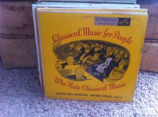 Arthur Fiedler Boston Pops Classical Music for People Who Hate LP