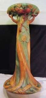 Weller Pottery Baldin Apple Jardiniere 24 Pedestal Art Nouveau