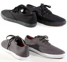 New American Rag Mens Casual Black Gray Jonas Canvas Lace Up Sneakers