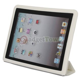 Smart Cover Leather Case Magnetic for Apple The New iPad 3 2 Wake