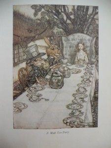 in Wonderland Childrens Book Arthur Rackham Illustrations