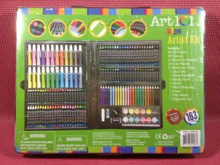 ART 101 KIDS ARTIST KIT  163 pc Oil Pastels,Crayons, Markers,Pencils