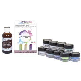 SuperNail Glitterize Professional Acrylic Nail Color Kit