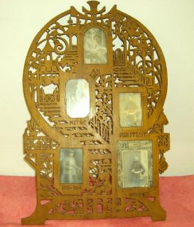 antique folk art frame for 5 picture 1914