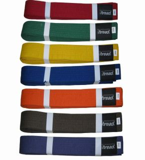 Martial Arts Belt Karate Taekwondo Judo Jiu Jitsu Color Belts Thread R