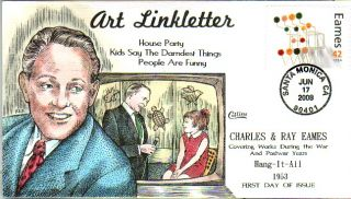 collins hand painted 4333 eames art linkletter fred collins