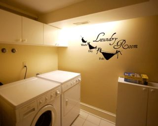 Laundry Room   Vinyl Wall Art Decals Quotes Home Decor