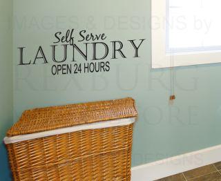 Vinyl Sticker Art Self Serve Laundry Funny Laundry Room LA17