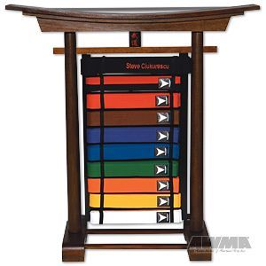 Karate Belt Holder Display Standing Martial Arts Rack