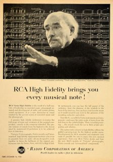 RCA Victor High Fidelity Arturo Toscanini Radio   ORIGINAL ADVERTISING