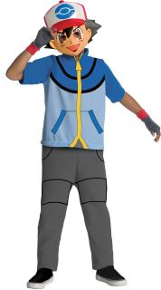 Pokemon Ash Anime Cartoon Costume Child Small Medium Large