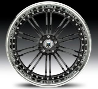 20 asanti AF128 Black Chrome Wheels Rims 3 Piece
