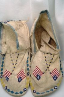 Native American Beaded Arapahoe Moccasins Circa 1940s