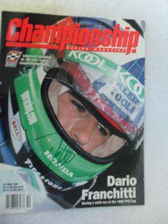 Signed Championship Racing Magazine Ashley Judd Indy Car Champ