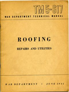 Army Manual Roofing Cement Asbestos Shingle Roof WWII