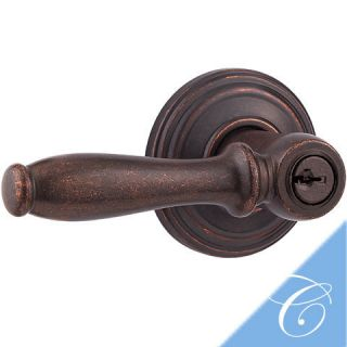 Weiser Ashfield Rustic Bronze SmartKey Entry Door Lever
