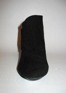 Coach Astrid Womens Black Suede Heel Ankle Boot Bootie