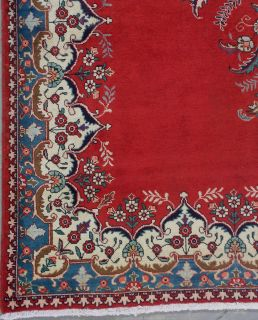 10x13 Red Antique Persian Tabriz Oriental Hand Knotted Wool Area Rug