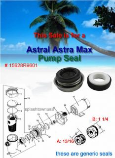 Astral Astramax 1600 Series Pool Pump Shaft Seal