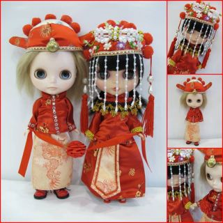 blythe Outfit Chinese Wedding Traditional Dress Set★