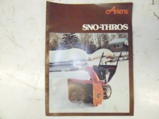 Original Ariens Snow Blower Sales Catalog 1979 Classic