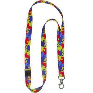 Asperger Autism Awareness Puzzle Ribbon ID Badge Lanyard Keyholder
