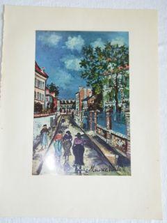 Vintage Maurice Utrillo Plate Fourteen Street Scene 695