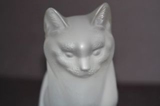 LALIQUE Crystal  Chat Assis Sitting Cat Figurine Sculpture #11603
