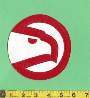 atlanta hawks nba 5 leather 1972 1995 retro logo patch