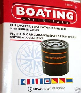 Boating Essentials Fuel Water Separator Canister New