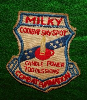 Combat Skyspot Vietnam Milky Candle Power RVN Patch