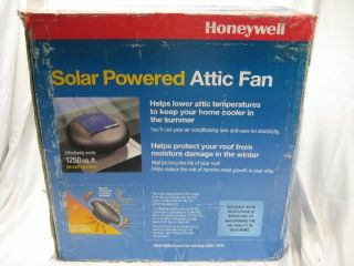 Thermostat Controlled Roof Mount Solar Powered Attic Fan