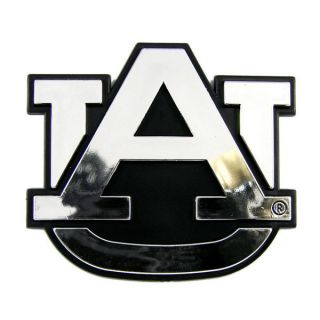 Auburn Tigers Chrome Auto Emblem Car Sticker Silver Logo Vehicle Decal