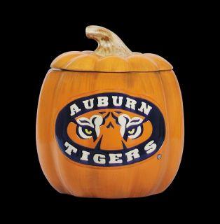 Collegiate Ceramic Pumpkin Cookie Jar Auburn University Tigers