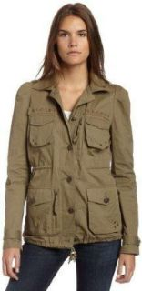 Aryn K Anthropologie $99 Green Cotton Button Down Military Jacket Coat