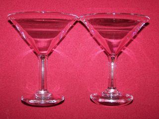 Simon Pearce Ascutney Set of TWO Martini Glasses Glassware Stemware